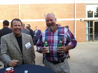 2015 Aviation Conference reception, Glade Springs-Jerry Brienza, Buddy Dennis