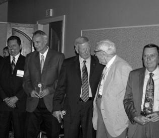 Hall of Fame Induction Ceremony: Tom Cochran, Mike Pizzino, Jon McBride, Kemp McLaughlin, Bill Pancake
