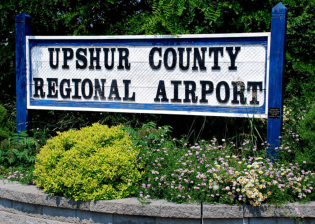 Entrance sign - Upshur County Airport in Buckhannon