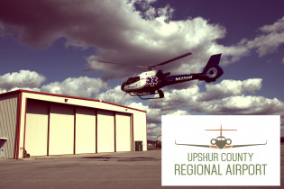 Air Methods medical transport helicopter at Upshur County Airport - Buckhannon